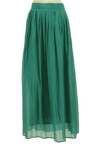 LOUNIE(ルーニィ)の古着「シアー微光沢フレアマキシスカート(ロングスカート・マキシスカート)」大画像1へ