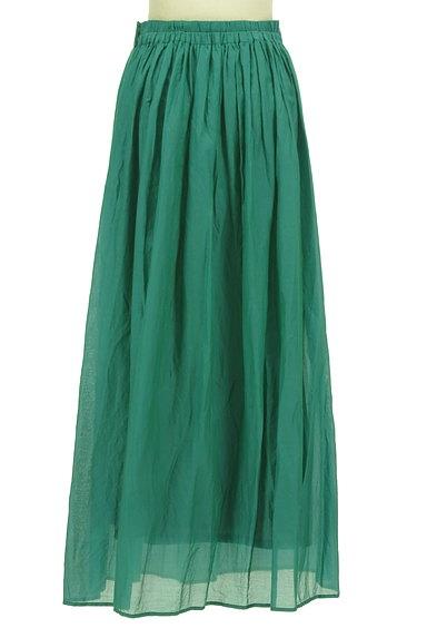 LOUNIE(ルーニィ)の古着「シアー微光沢フレアマキシスカート(ロングスカート・マキシスカート)」大画像2へ
