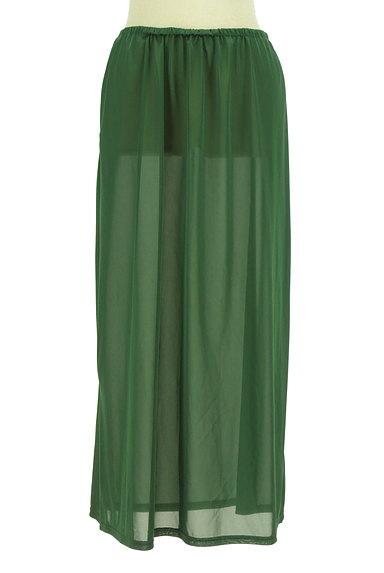LOUNIE(ルーニィ)の古着「シアー微光沢フレアマキシスカート(ロングスカート・マキシスカート)」大画像5へ