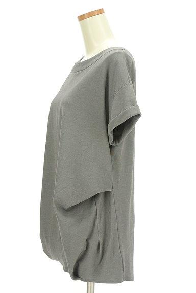 LOUNIE(ルーニィ)の古着「サイドタックロールアップ袖カットソー(カットソー・プルオーバー)」大画像3へ