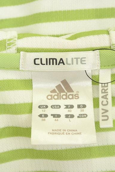 adidas(アディダス)の古着「ボーダーフーディカットソー(スウェット・パーカー)」大画像6へ