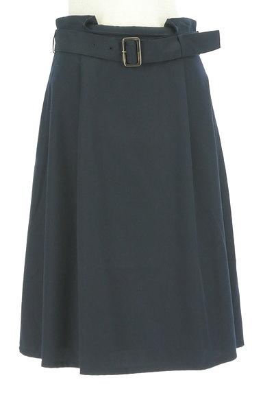 NATURAL BEAUTY BASIC(ナチュラルビューティベーシック)の古着「ベルト付きボックスプリーツ膝下丈スカート(スカート)」大画像1へ