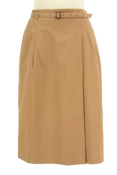 NATURAL BEAUTY BASIC(ナチュラルビューティベーシック)の古着「ベルト付きラップ風膝下丈スカート(スカート)」大画像1へ