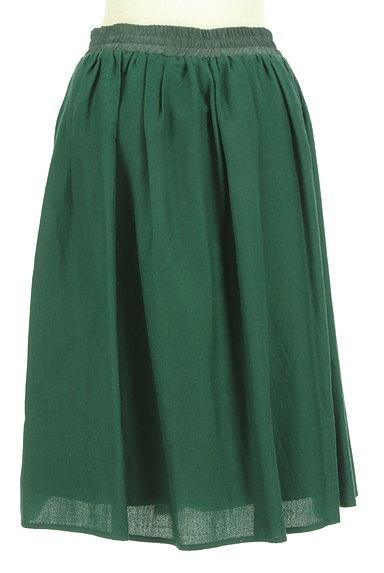 NATURAL BEAUTY BASIC(ナチュラルビューティベーシック)の古着「膝下丈ギャザーフレアスカート(スカート)」大画像2へ