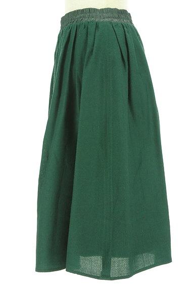 NATURAL BEAUTY BASIC(ナチュラルビューティベーシック)の古着「膝下丈ギャザーフレアスカート(スカート)」大画像3へ