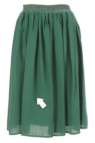 NATURAL BEAUTY BASIC(ナチュラルビューティベーシック)の古着「膝下丈ギャザーフレアスカート(スカート)」大画像4へ