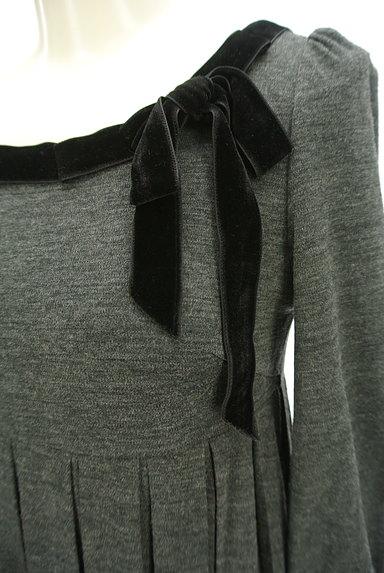 STRAWBERRY-FIELDS(ストロベリーフィールズ)の古着「ベロアリボン七分袖ワンピース(ワンピース・チュニック)」大画像4へ