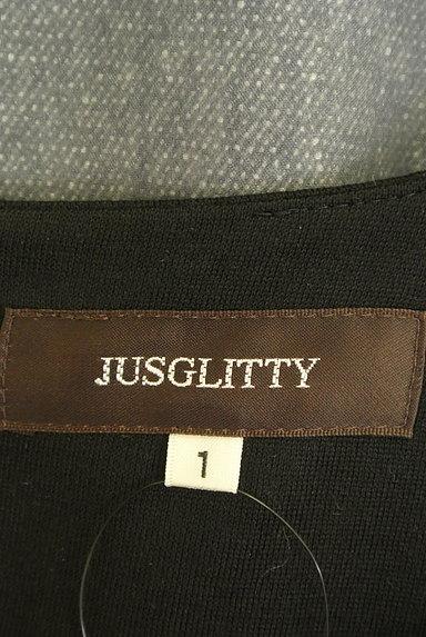 JUSGLITTY(ジャスグリッティー)の古着「ウエストリボン膝下丈バイカラーワンピ(ワンピース・チュニック)」大画像6へ