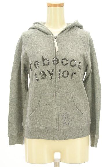 REBECCA TAYLOR(レベッカテイラー)の古着「フェルトロゴジップアップパーカー(スウェット・パーカー)」大画像1へ