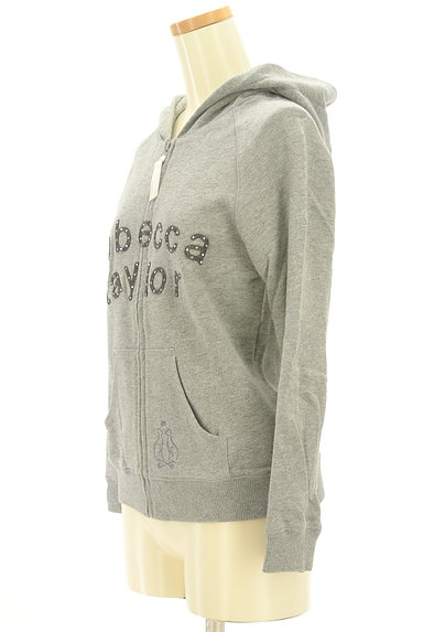 REBECCA TAYLOR(レベッカテイラー)の古着「フェルトロゴジップアップパーカー(スウェット・パーカー)」大画像3へ