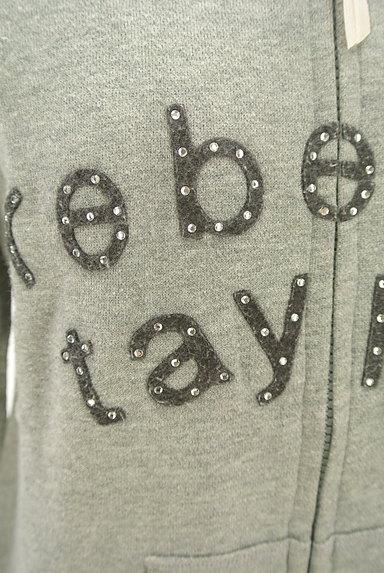 REBECCA TAYLOR(レベッカテイラー)の古着「フェルトロゴジップアップパーカー(スウェット・パーカー)」大画像4へ