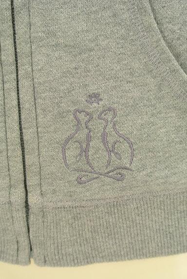 REBECCA TAYLOR(レベッカテイラー)の古着「フェルトロゴジップアップパーカー(スウェット・パーカー)」大画像5へ