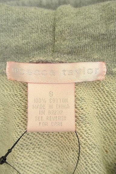 REBECCA TAYLOR(レベッカテイラー)の古着「フェルトロゴジップアップパーカー(スウェット・パーカー)」大画像6へ