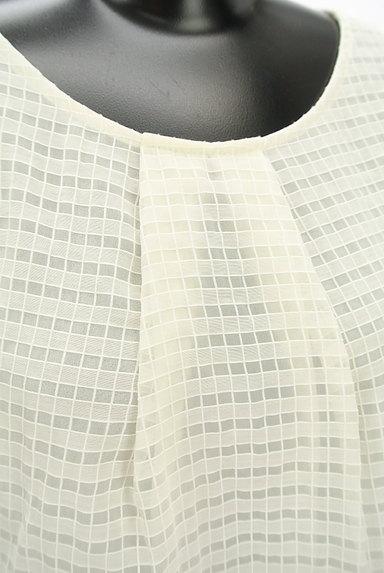 LANVIN en Bleu(ランバンオンブルー)の古着「フリル袖シースルーカットソー(カットソー・プルオーバー)」大画像4へ