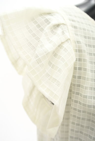 LANVIN en Bleu(ランバンオンブルー)の古着「フリル袖シースルーカットソー(カットソー・プルオーバー)」大画像5へ