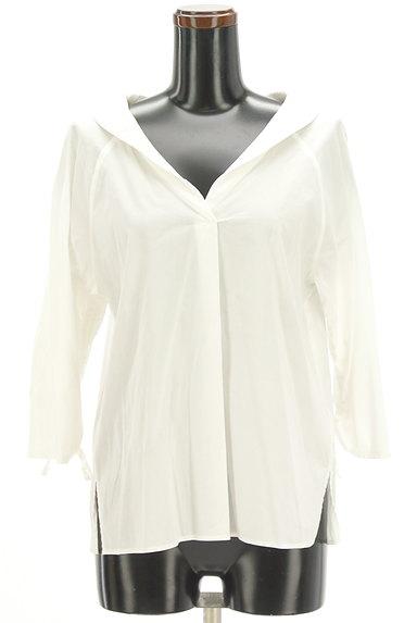 VICKY(ビッキー)の古着「オープンカラードロスト袖シャツ(カットソー・プルオーバー)」大画像1へ