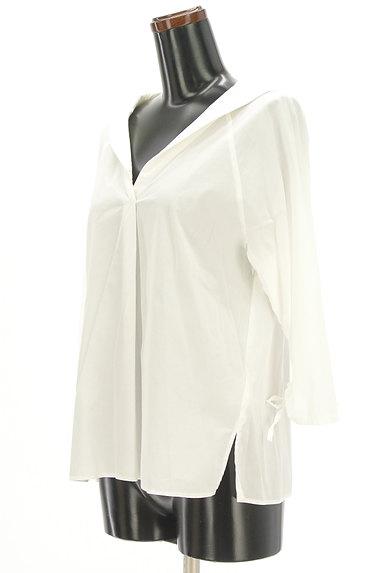 VICKY(ビッキー)の古着「オープンカラードロスト袖シャツ(カットソー・プルオーバー)」大画像3へ