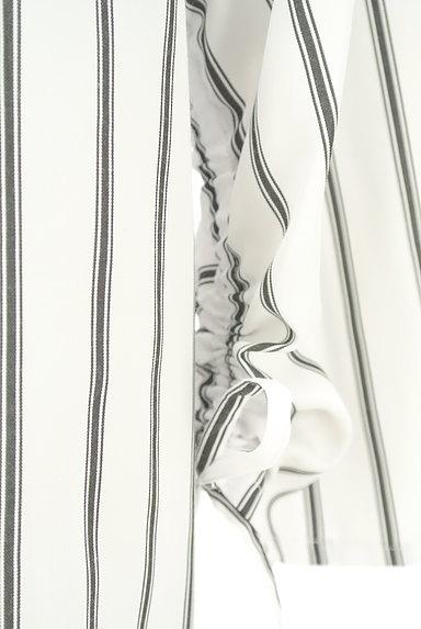 VICKY(ビッキー)の古着「スキッパーカラーストライプ柄ブラウス(カットソー・プルオーバー)」大画像5へ