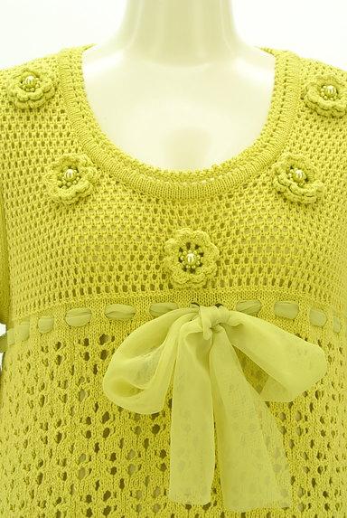 TO BE CHIC(トゥービーシック)の古着「お花とリボンのクロシェニットワンピ(ワンピース・チュニック)」大画像4へ