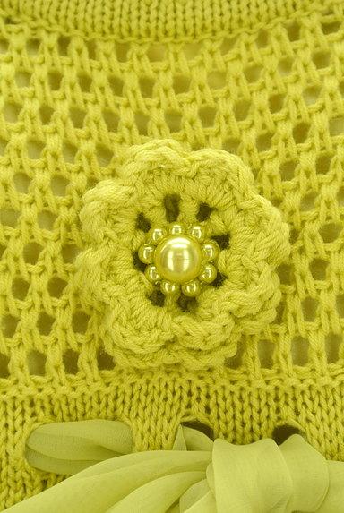 TO BE CHIC(トゥービーシック)の古着「お花とリボンのクロシェニットワンピ(ワンピース・チュニック)」大画像5へ