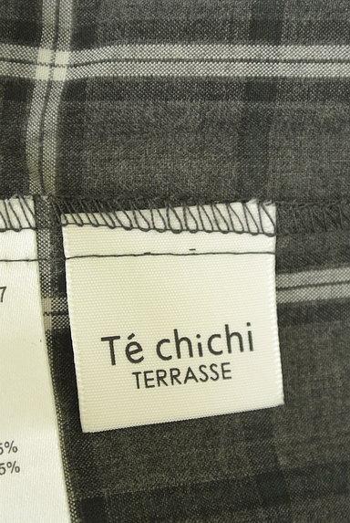 Te chichi(テチチ)の古着「シャーリングネックラインチェック柄カットソー(カットソー・プルオーバー)」大画像6へ