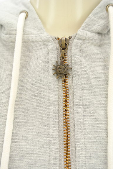 Jocomomola(ホコモモラ)の古着「刺繍入りジップアップスウェットパーカー(スウェット・パーカー)」大画像4へ