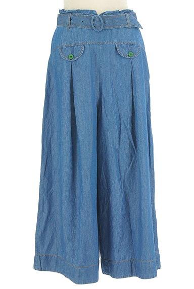 Jocomomola(ホコモモラ)の古着「ダミーポケット付きデニムワイドパンツ(デニムパンツ)」大画像1へ