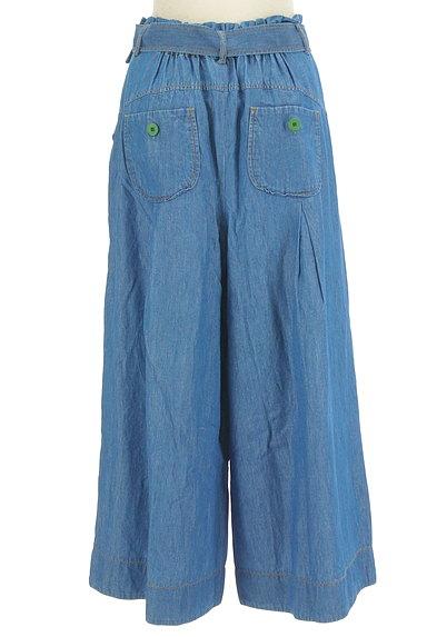 Jocomomola(ホコモモラ)の古着「ダミーポケット付きデニムワイドパンツ(デニムパンツ)」大画像2へ