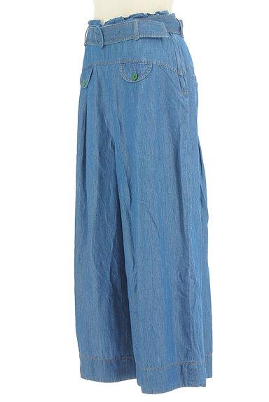 Jocomomola(ホコモモラ)の古着「ダミーポケット付きデニムワイドパンツ(デニムパンツ)」大画像3へ
