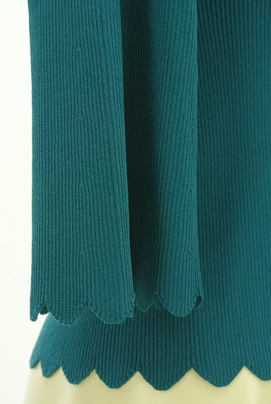 Jocomomola(ホコモモラ)の古着「レトロなスカラップリブニット(ニット)」大画像4へ