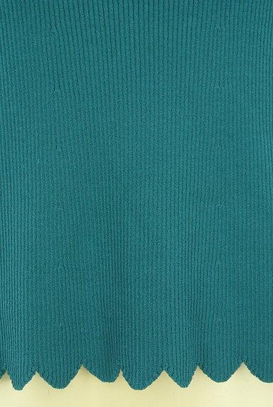 Jocomomola(ホコモモラ)の古着「レトロなスカラップリブニット(ニット)」大画像5へ