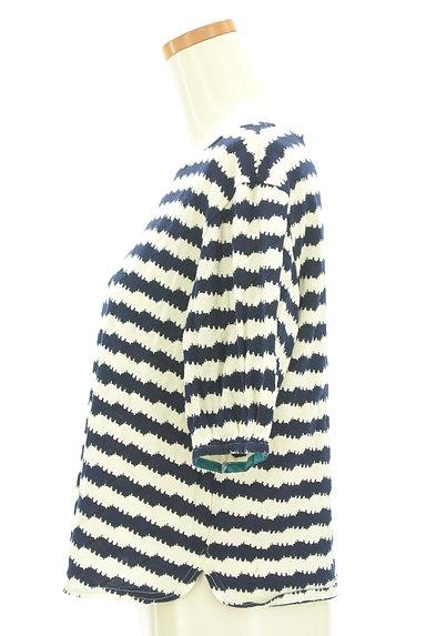 Jocomomola(ホコモモラ)の古着「うねうねボーダーカットソー(カットソー・プルオーバー)」大画像3へ