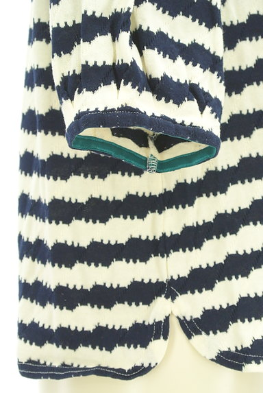 Jocomomola(ホコモモラ)の古着「うねうねボーダーカットソー(カットソー・プルオーバー)」大画像4へ