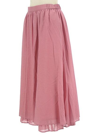 Jocomomola(ホコモモラ)の古着「ミモレ丈ギャザーフレアスカート(ロングスカート・マキシスカート)」大画像3へ