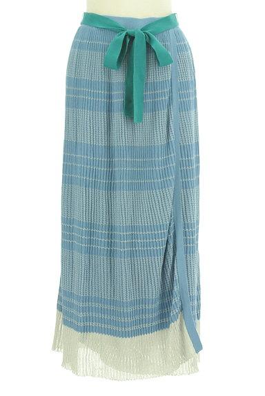 Jocomomola(ホコモモラ)の古着「ラメボーダーのロングスカート(ロングスカート・マキシスカート)」大画像1へ