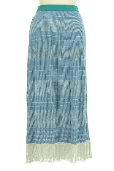 Jocomomola(ホコモモラ)の古着「ラメボーダーのロングスカート(ロングスカート・マキシスカート)」大画像2へ