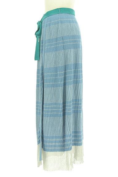 Jocomomola(ホコモモラ)の古着「ラメボーダーのロングスカート(ロングスカート・マキシスカート)」大画像3へ