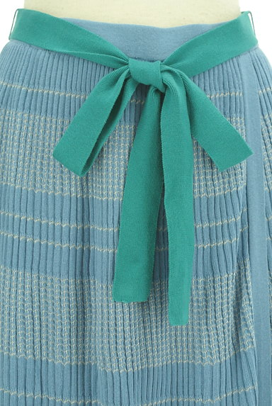 Jocomomola(ホコモモラ)の古着「ラメボーダーのロングスカート(ロングスカート・マキシスカート)」大画像4へ
