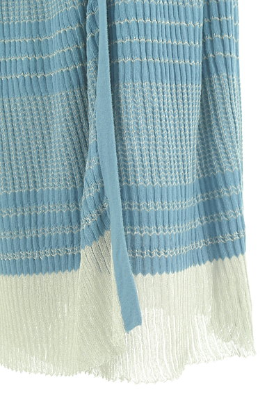 Jocomomola(ホコモモラ)の古着「ラメボーダーのロングスカート(ロングスカート・マキシスカート)」大画像5へ
