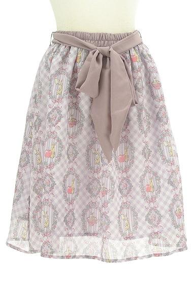 axes femme(アクシーズファム)の古着「ウサギさんのシフォンリボンスカート(スカート)」大画像1へ