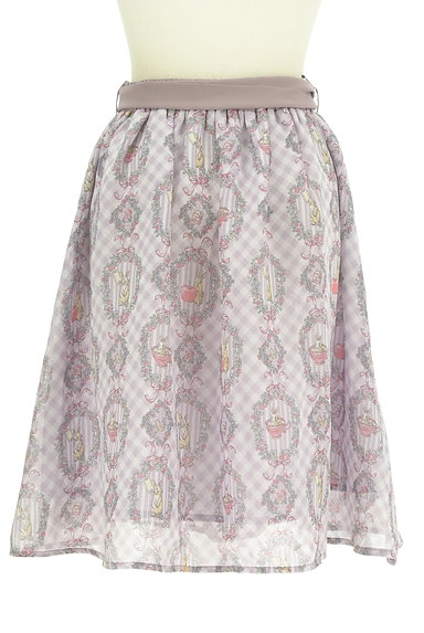 axes femme(アクシーズファム)の古着「ウサギさんのシフォンリボンスカート(スカート)」大画像2へ