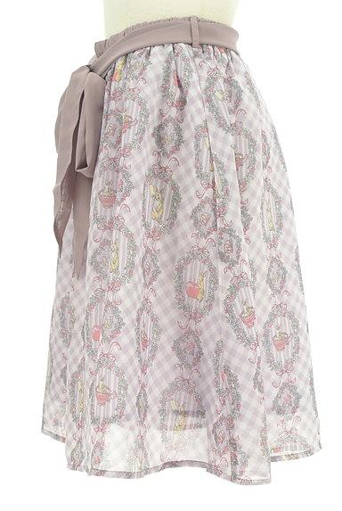 axes femme(アクシーズファム)の古着「ウサギさんのシフォンリボンスカート(スカート)」大画像3へ