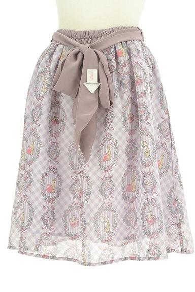 axes femme(アクシーズファム)の古着「ウサギさんのシフォンリボンスカート(スカート)」大画像4へ
