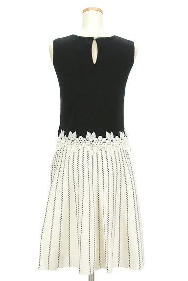 Rirandture(リランドチュール)の古着「花刺繍トップス+ストライプ柄ニットスカート(セットアップ(ジャケット+スカート))」大画像2へ