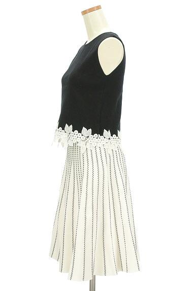 Rirandture(リランドチュール)の古着「花刺繍トップス+ストライプ柄ニットスカート(セットアップ(ジャケット+スカート))」大画像3へ