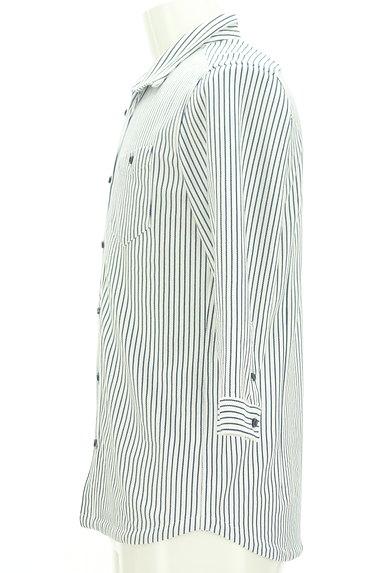 NICOLE(ニコル)の古着「ストライプ柄七分袖鹿の子シャツ(カジュアルシャツ)」大画像3へ