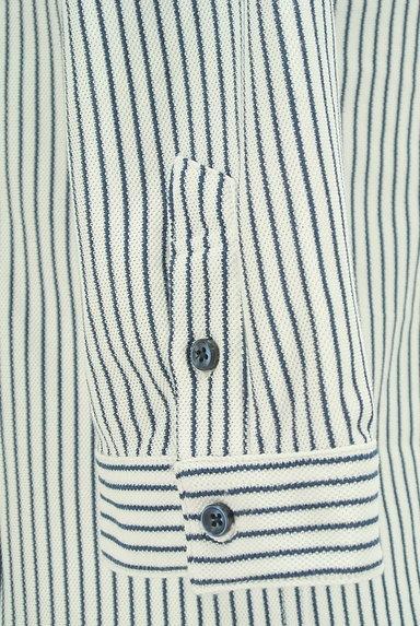 NICOLE(ニコル)の古着「ストライプ柄七分袖鹿の子シャツ(カジュアルシャツ)」大画像5へ