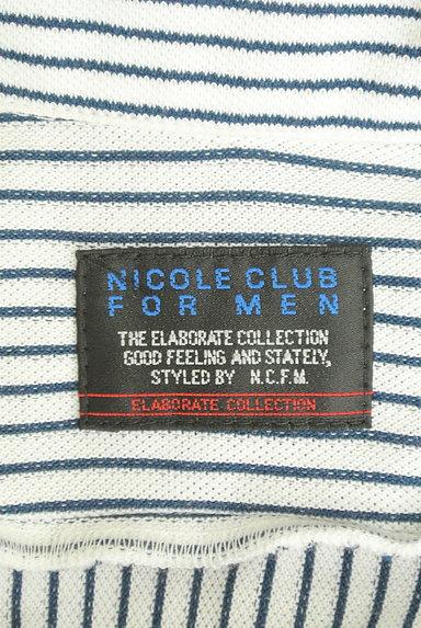 NICOLE(ニコル)の古着「ストライプ柄七分袖鹿の子シャツ(カジュアルシャツ)」大画像6へ