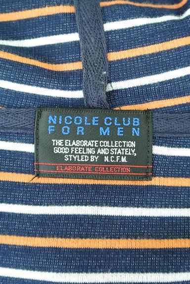 NICOLE(ニコル)の古着「ボーダー五分袖フーディカーディガン(カーディガン)」大画像6へ
