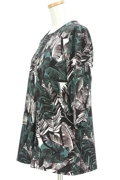 LEILIAN(レリアン)の古着「ボタニカル柄七分袖フレアカットソー(カットソー・プルオーバー)」大画像3へ